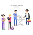 high quality character design veterinarian vector image vector image