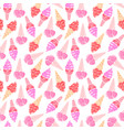 icecream seamless pattern 2 vector image vector image