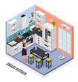 iot isometric composition vector image vector image