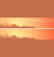 marseille beautiful skyline scenery banner vector image