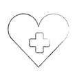 medical heart cross hospital symbol vector image