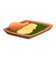 mexican food rice icon cartoon style vector image vector image