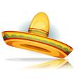 mexican sombrero vector image vector image