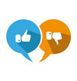 modern thumbs up and thumbs down icons vector image vector image