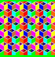 multi-color cubes pattern seamless background vector image