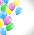 Multicolored inflatable air balls on grayscale vector image vector image