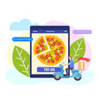 ordering pizza online concept vector image vector image