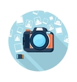 Photo camera with pictures vector image vector image
