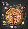 Pizza assorted vector image