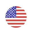 round american flag vector image vector image