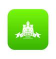 royal castle icon green vector image vector image