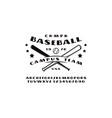 sans serif font and emblem of baseball team vector image vector image