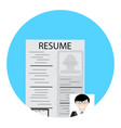 search for employee human resource vector image vector image