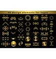 Set Creative icon monogram design elements with vector image