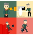 Set of businessman pose character concepts vector image vector image