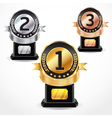 Set of Medal Numbers vector image vector image