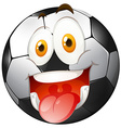 Smiling face on football vector image