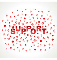 Support word with in alphabets vector image vector image