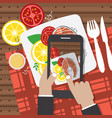 taking food fotos vector image vector image