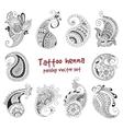 tattoo henna element vector image