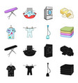 vacuum cleaner a stack of cloth dirty and clean vector image