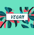vegan in design banner template for web vector image vector image