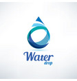 water drop logo template ecology and environment vector image vector image