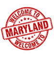 welcome to maryland vector image vector image