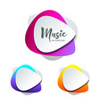 white paper shape guitar pick colorful vector image vector image