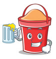 with juice bucket character cartoon style vector image vector image
