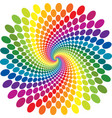 rainbow swirl abstract vector image