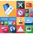 Travel Shadowed Icon Set vector image