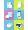 Business and finance icons flat design vector image