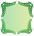 A leafy template vector image vector image