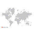 abstract map world from dot forms vector image vector image