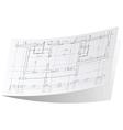 Architecture plan sticker 1 vector image