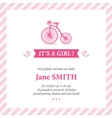 Baby announcement card it s girl vector image vector image