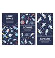 banners on space theme vector image vector image
