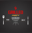 bbq grilled party fish meat image vector image