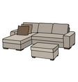 big cream couch vector image vector image