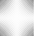 Black and white abstract square pattern design vector image