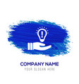 bulb concept creative idea icon - blue watercolor vector image vector image