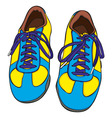 cartoon shoes vector image vector image