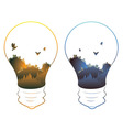 City in a Lightbulb6 vector image vector image