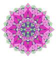 colorful floral mandala vector image vector image