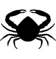 crab silhouette isolated vector image vector image