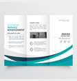 creative business trifold brochure design template vector image vector image