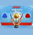 cricket game championship poster banner vector image vector image