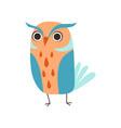 cute adorable colorful owl bird cartoon vector image vector image