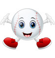 cute happy baseball cartoon smiling vector image vector image